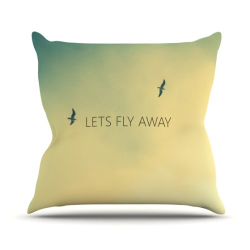 """Kess InHouse Richard Casillas """"Let's Fly Away"""" Outdoor Throw Pillow, 26 by 26-Inch"""