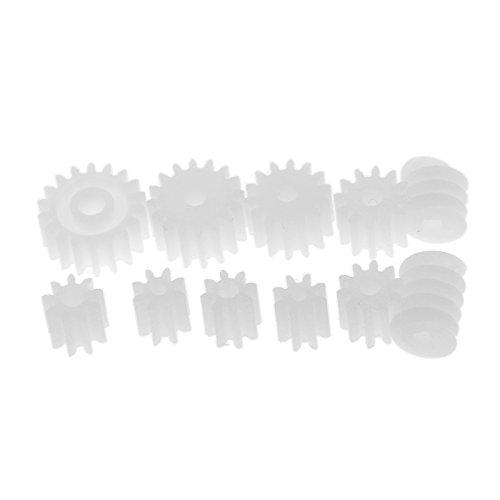 Gazechimp 11Pcs Set D'Engrenages En Plastique Pièce Robot Outils À Répérer Kit Modèle Fabrication Accessoire