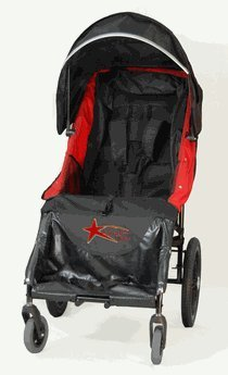 Adaptive Star Lassen 2 IndoorOutdoor Mobility Push Chair in Red (Special Needs Stroller)