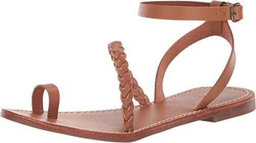 Soludos Women's Madrid Strappy Braided Sandals, Nude, Tan, 7 Medium US