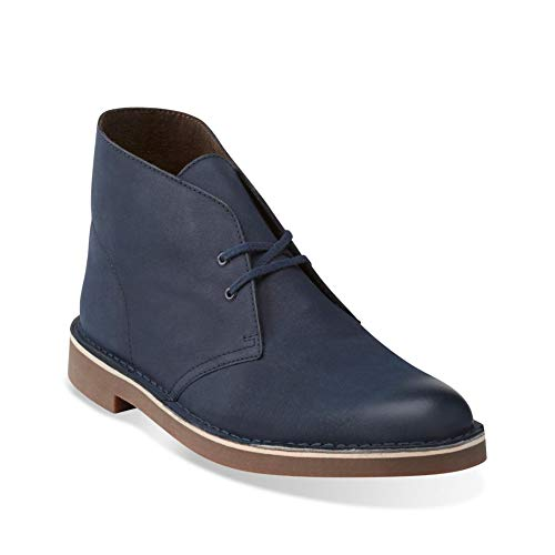 (Clarks Men's Bushacre 2 Chukka Boot, Navy Leather, 11 M)