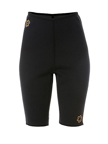 Zaggora Women's Hot Pants Fat Burn Weight Loss Neoprene Anti Cellulite Shorts, Black, Medium