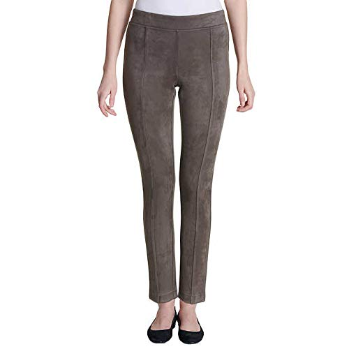 (Andrew Marc Women's Super Soft Stretch Faux Suede Pull On Pants (Taupe,)