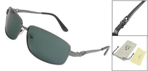 de rectángulo completa polarizadas Montura de Los sol color del de oscuro la gafas hombres lente gris qnwEX