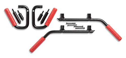 - Made in the USA GraBars Steel Handles 2007-2017 Jeep Wrangler 4DR JKU Front & Rear - RED