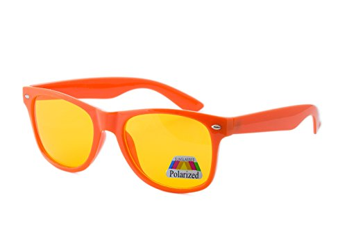 morefaz sol para Orange Neon de Gafas Polarized hombre zErgxzqw