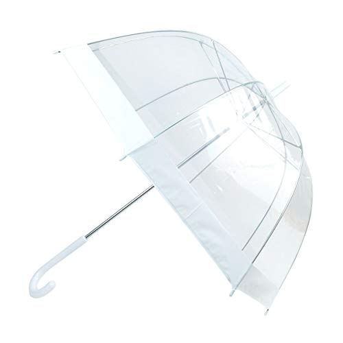 boxed-gifts See-Thru-Bubble Wind Resistant Premium Clear Dome Umbrella