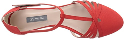Jessica Sandales SJP Sarah by Gg Parker Meteor Femme Poppy Rouge XwXAEqx1