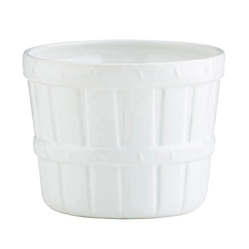 White Porcelain Farm Harvest Produce Fruit Basket Bowl (6 Inch (Dia))