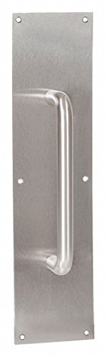 DOOR PULL PLATE 4X16'' W/ 10'' CTC PULL by HEALTHY HARDWARE