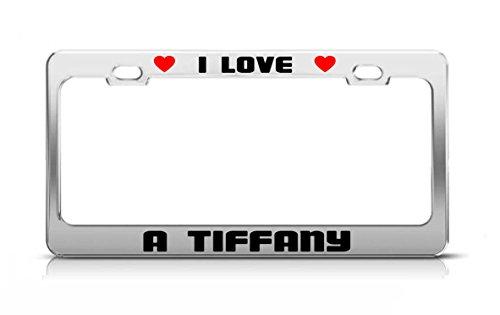 (I LOVE A TIFFANY Animal License Plate Frame Tag Holder)