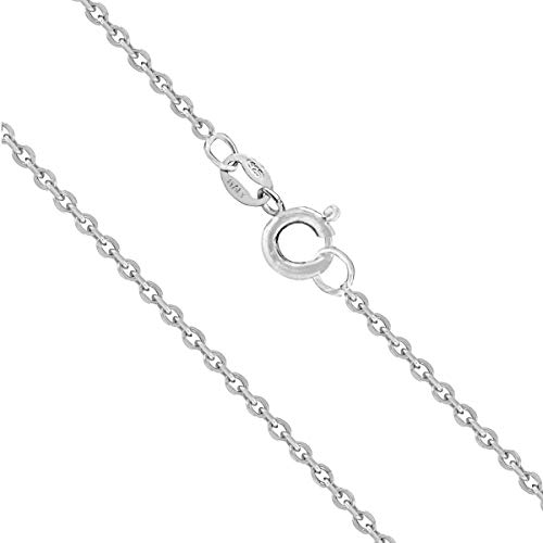 Honolulu Jewelry Company Sterling Silver 1mm Cable Chain (16 Inches)