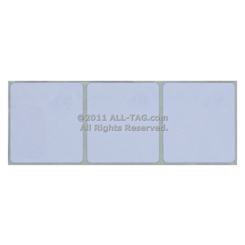 Checkpoint Compatible 8.2 MHz RF Label 33x38mm, Plain Whi...