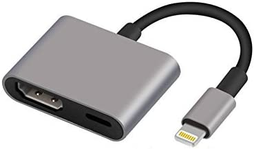 Sebami Lightning a HDMI, Lightning Adapter Cable, 1080P Lightning Digital AV Adaptor, Sync Screen HDMI Connector con puerto de carga para ciertos modelos de iPhone / iPad, compatible con iOS 11 y anteriores