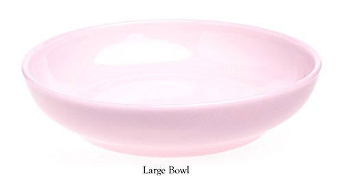 Plain & Simple Pattern - Multi Size Bowls -Crown Tuscan Pink Glass - Mosser Glass - USA -