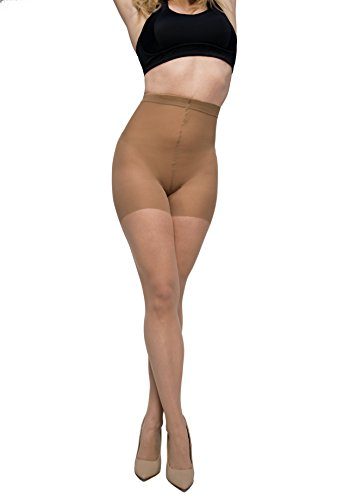 Curvation Women's Plus Size 2-Pack Control Top Pantyhose Soft Stretch, Nude, (Cotton Nylon Pantyhose)