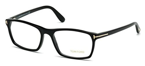 TOM FORD TF 5295 001 Shiny Black Clear Butterfly Eyeglasses - Butterfly Tom Eyeglasses Ford