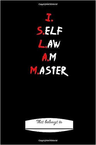 Buy I Self Law Am Master (Moorish American) Book Online at Low