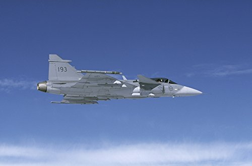 Lulea Sweden - Saab JAS 39 Gripen fighter of the Swedish Air Force Poster Print (34 x - 39 Fighters Jas Gripen
