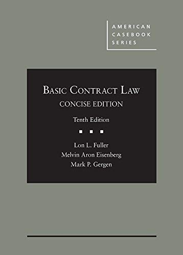 Basic Contract Law, Concise Edition (American Casebook Series)