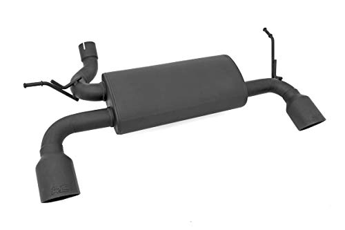 - Rough Country Dual Performance Exhaust Black Fits 2007-2018 [ Jeep ] Wrangler JK Matte Black Stainless Steel 96000