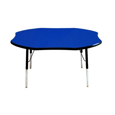 Creative Colors M48SRBK-SN Activity Table, Toddler Height, Ball Glides, 48'' Shamrock, Maple Top, Black Edge by Creative Colors