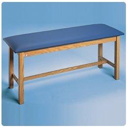 """Standard H-Brace Treatment Table 72""""L x 24""""W x 31""""H (183 x 61 x 79 cm) Color: Oak Brown - Model 6603"""