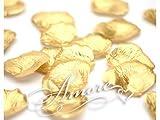200 Wedding Silk Rose Petals Gold
