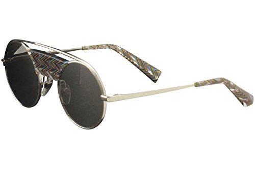 Alain Mikli Women's A04002N A0/4002N 003/6G Shiny Silver Round Sunglasses - Mikli Alain Sunglasses