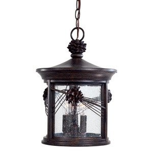 Outdoor Light Three Chain (Minka Lavery 9154-A357 3-Light Outdoor Chain Hung, Iron Oxide Finish)