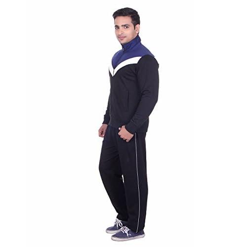 31TII qzPOL. SS500  - Vivid Bharti Men's High Neck Fleece Tracksuit