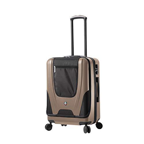 Brown Mia Toro Italy Leggero Softside 24 Inch Spinner Luggage