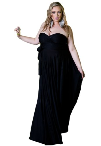 Sealed With A Kiss Designs Plus Size Eternity Maxi Convertible Dress in Black - Size 5X, Black (Dresses In 5x For Women)