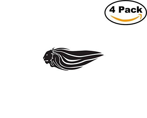 Aprilia Cars (aprilia lion variation 01 4 Stickers 4x4 Inches Car Bumper Window Sticker Decal)