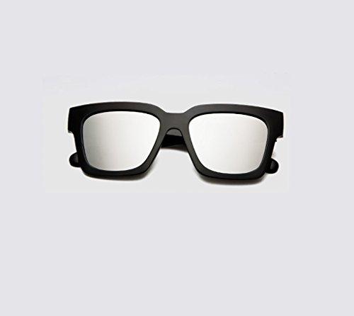 Sonnenbrillen Gezeiten polarisierte Sonnenbrillen / weibliche Modelle große Kasten-Retro- Sonnenbrille-männliche Pers5onlichkeit-runde Gesichts-Paar-Gläser Brille ( Farbe : D ) LDkTF5