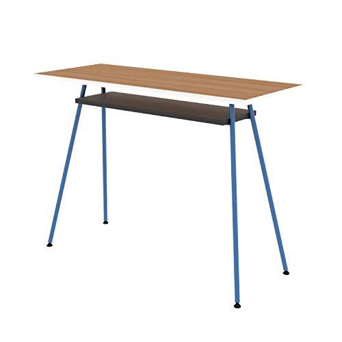 LEVIRA-Mesa-de-Oficina-Escritorio-Mesa-de-Ordenador-Kost-Colors-100-x-75-Azul