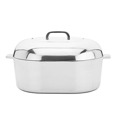 Classic Style Cast Aluminum 15-Inch Oval Covered Roasting Pan, 2 Piece