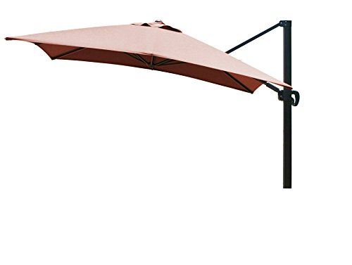 Eclipse Collection 10'x10' SquareCantileverUmbrella CL MultiPositon (Terra Bronze Outdoor Hanging)