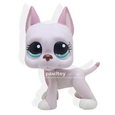 Bambi Costume Ebay (LHJ Littlest Pet Shop Pink Lavender Great Dane Dog Blue Eyes Figure Toy LPS #1022)