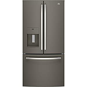 "GE GFE24JMKES 33"" Energy Star Qualified French-Door Refrigerator with 23.8 Cu. Ft. Capacity, in Slate"