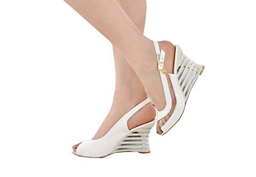 Sommer Transparente Wedges Damen Sandalen Weiß