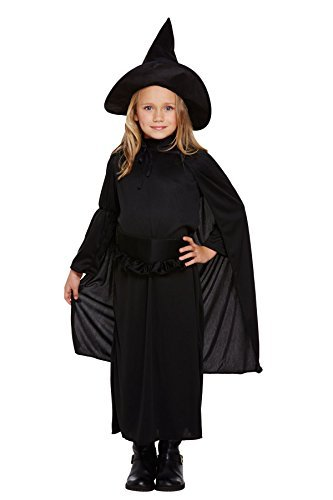 [Henbrandt Child's Fancy Dress Classic Witch Costume Age 4-6 Years] (Fancy Dress Costumes Kids)