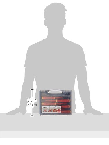 Slotted /& Phillips Felo 0715762745 E-Slim Insulated Screwdriver Set Bondhus 7 Piece