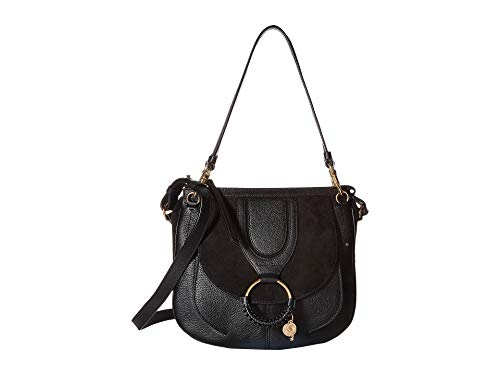See by Chloe Women's Hana Suede & Leather Tote Black One Size ()