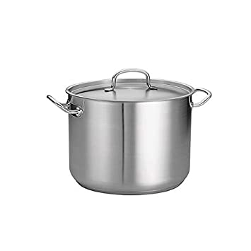 Tramontina 80117 580DS Pro-Line Stainless Steel Covered Stock Pot, 16-Quart