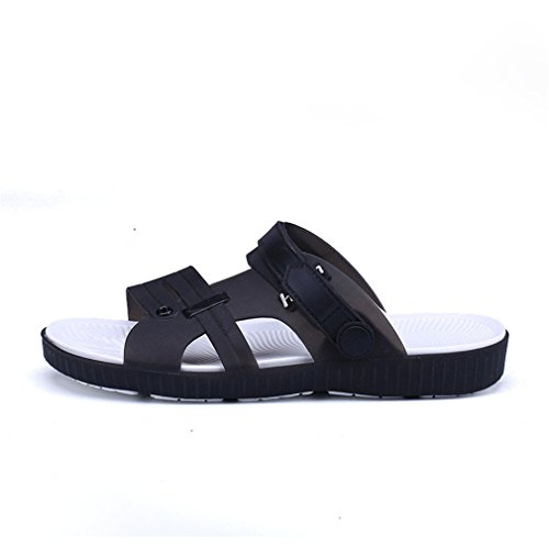 Summer Slippers Men Casual Leisure Soft Eva Massage Beach Slippers Water Shoes black 9.5 by BEACHR