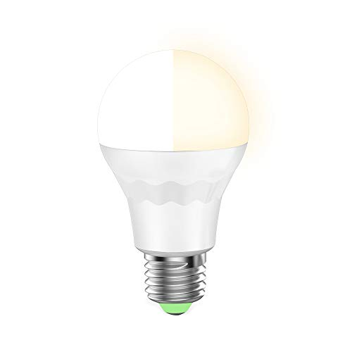 HaoDeng WiFi LED Smart Light 7.5W Bulb -Timer& Sunrise& Sunset- Dimmable, Warm White, Cool White -Tunable White, Compatible with Alexa, Google Home Assistant and IFTTT by HaoDeng