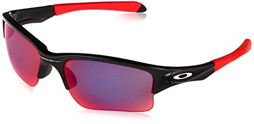 Oakley Men's OO9200 Quarter Jacket Rectangular Sunglasses, Polished Black/Prizm Road, 61 mm