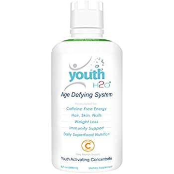 youthH2O - Age Defying System, Anti-Aging, Prevent Hair Loss, Great Skin Care, Glossy Hair & Nail, Best Biotin added Product for Skin, Hair & Nail - 30oz One Month Supply - Blooming Apple Flavor