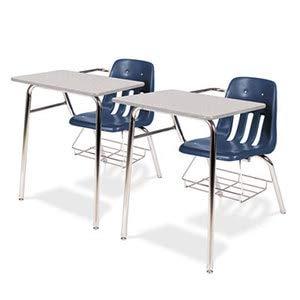 Tables Nebula Gray 30h (9400 Series Chair Desk, 21w x 33-1/2d x 30h, Gray Nebula/Navy, 2/Carto)